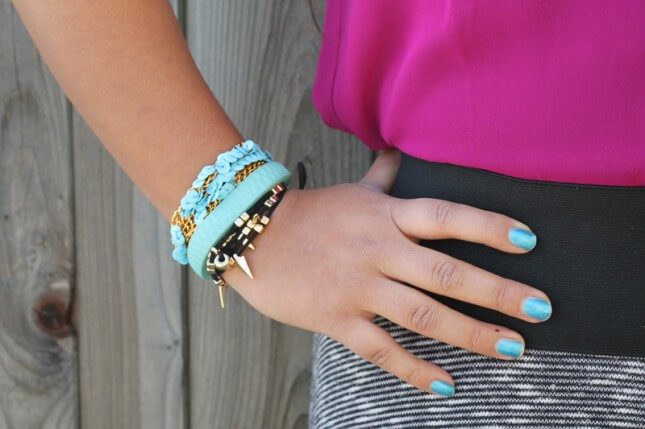 Sequined Chain Bracelet: