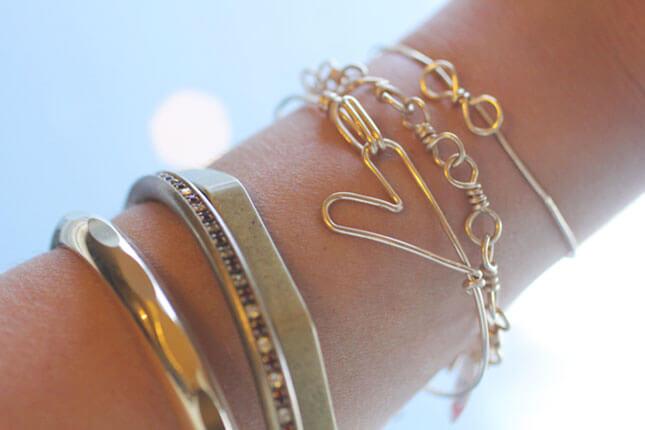 Wire Heart Bracelet: