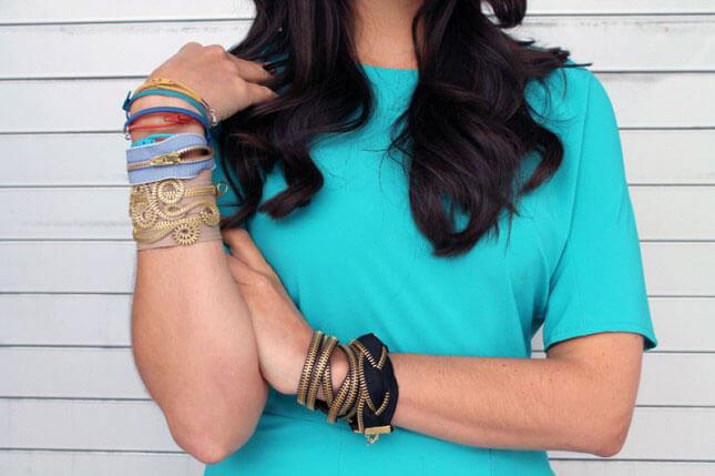 Zipper Bracelets: