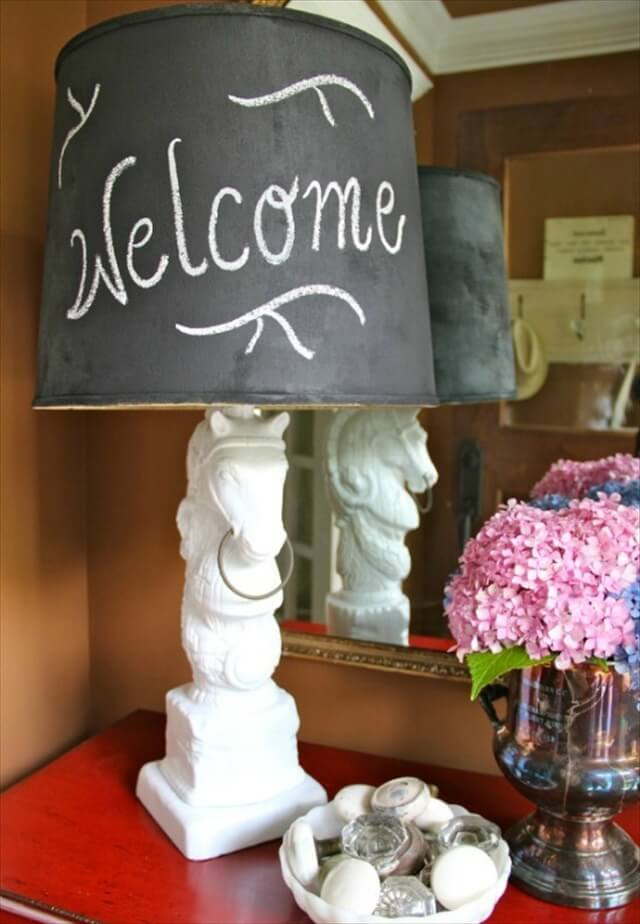 Customize a Lamp Shade with Chalkboard Paint