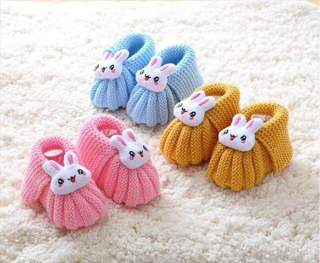 25 Easy Crochet Newborn Baby Booties