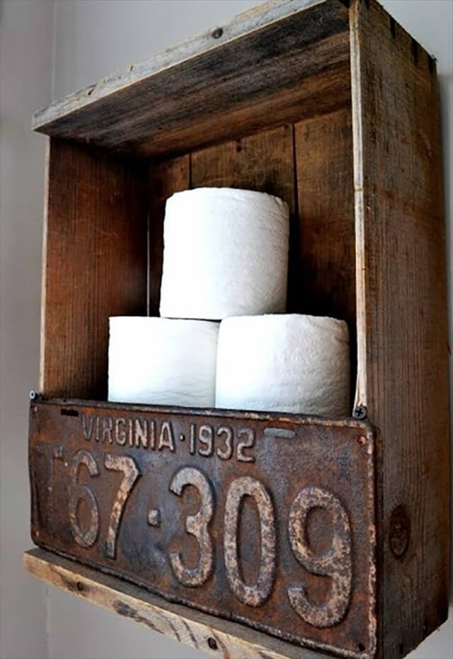 Raw Wooden DIY Toilet Paper Holder