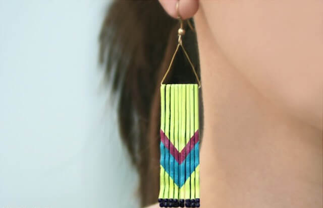 Baby pin earrings