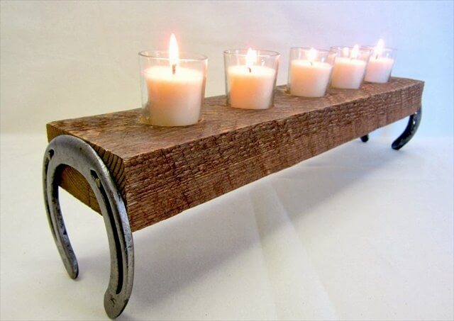 Horseshoe Candle Holder