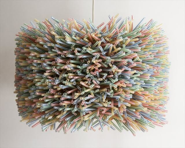 Recycle Plastic Straws Chandelier