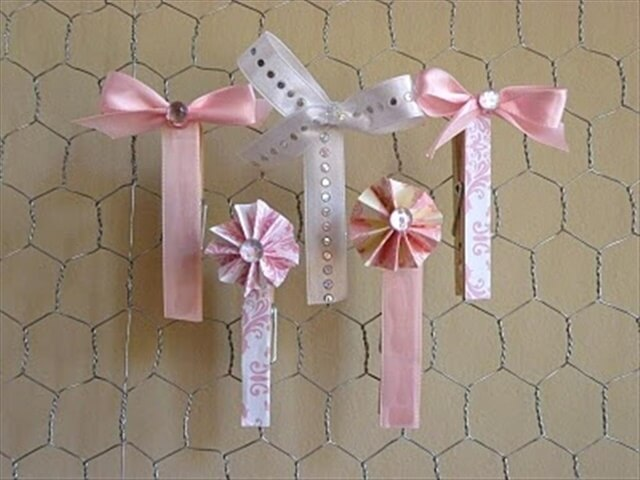 DIY Fancy Clothes Pins
