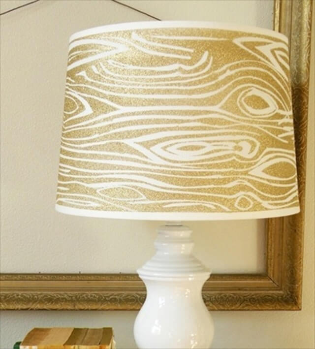 Glitter Wood Grain Lamp Shade
