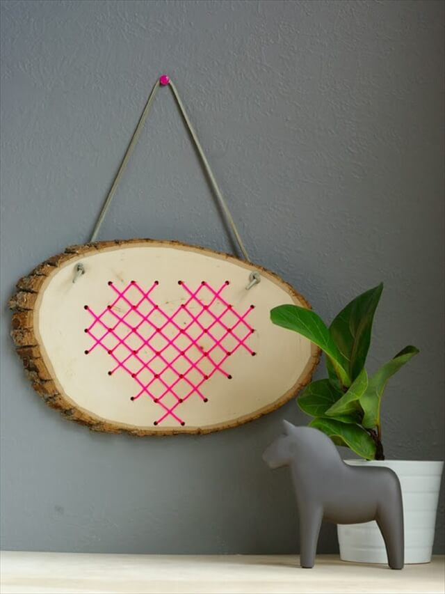 GreatCross Stitch Heart in Wood