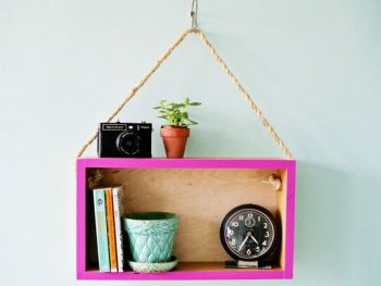 Hanging Wall Shelf: