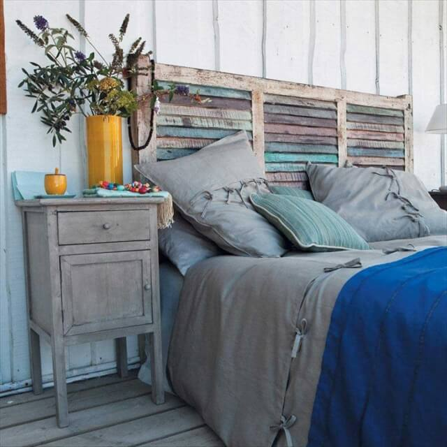 Homemade Shutter Headboard