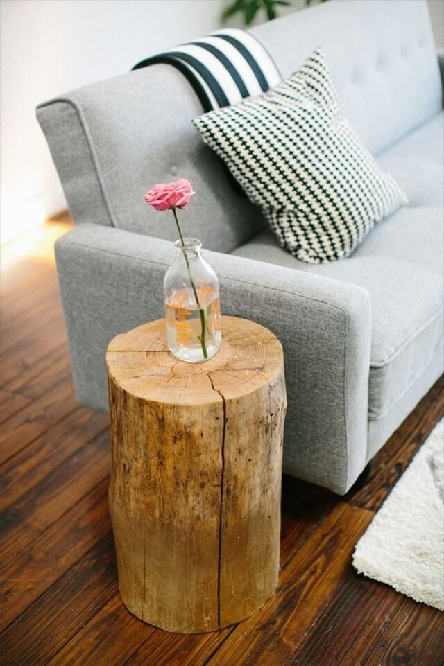 Magical DIY Tree Stump Table Ideas