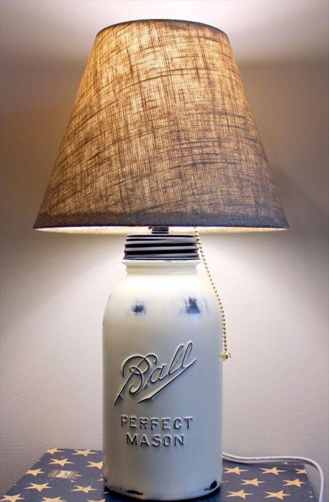 handmade mason jar lamp
