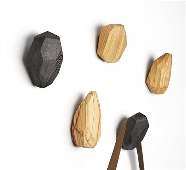 Neutral-toned wooden wall hooks