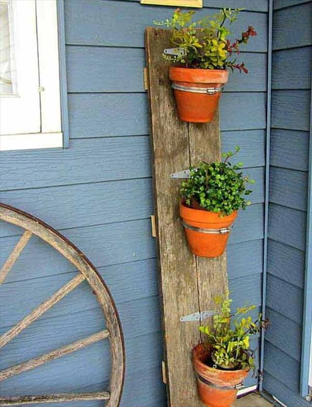 log wood planter idea