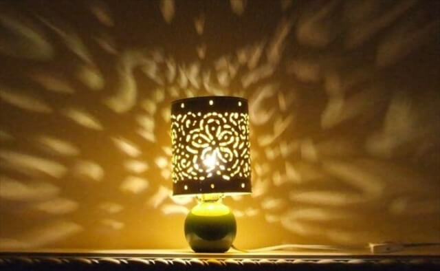 Recycled Can Lampshade