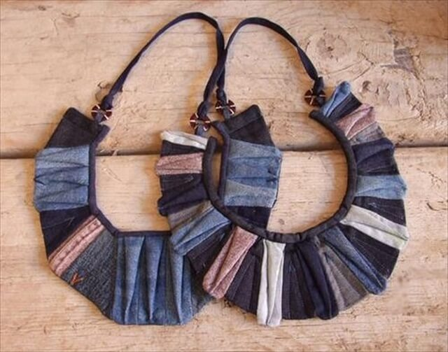 Recycle your jeans, old dresses to make earrings: