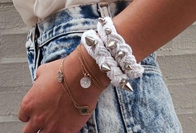 Spike Rope Bracelet: