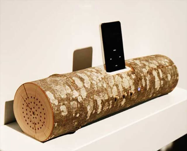 Wood Music Speaker Dock for iPod