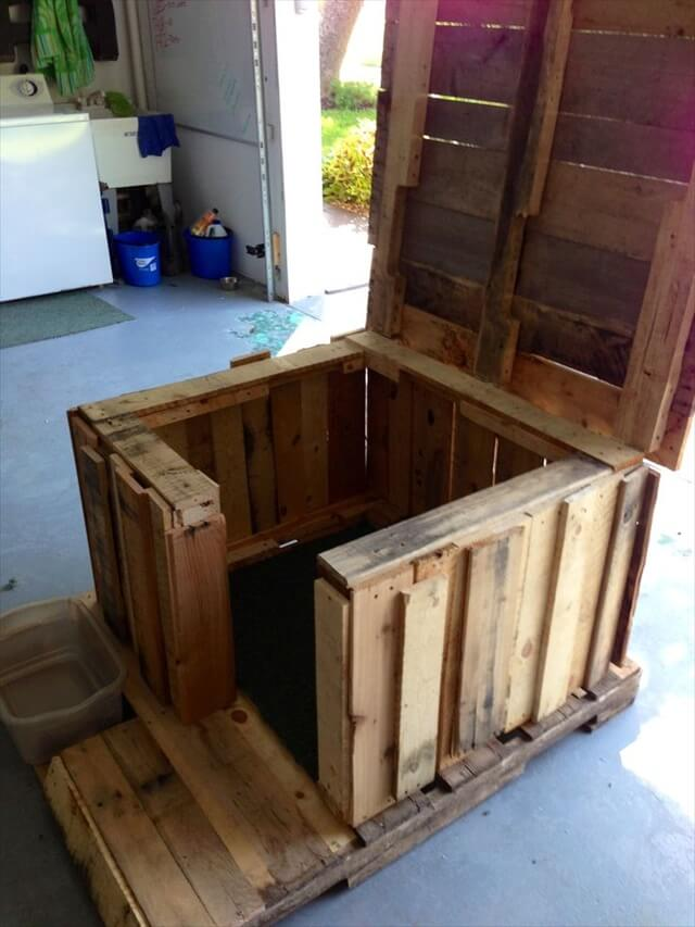 how to build a doghouse with pallets