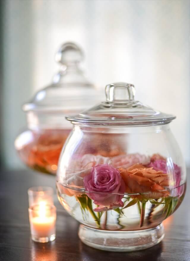 Apothecary Jar Floral Display