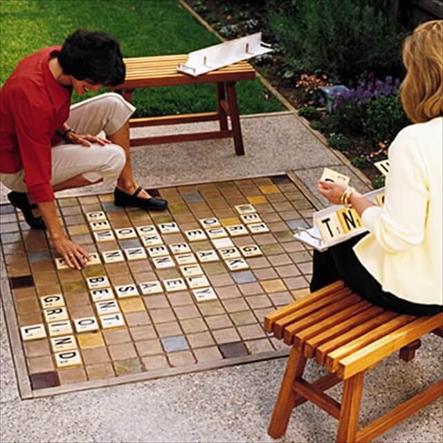 Amazing Backyard Scrabble