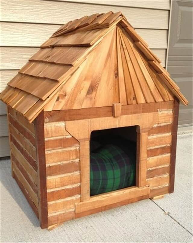 Beautiful diy dog house from pallets: