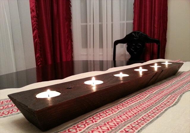 DIY Wood Block Tea Candle Votives