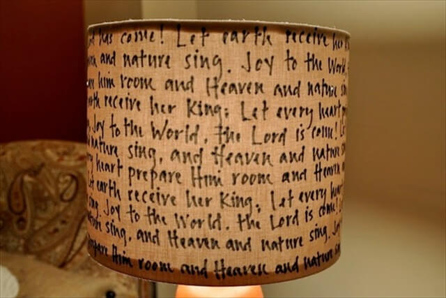 hand write lampshade
