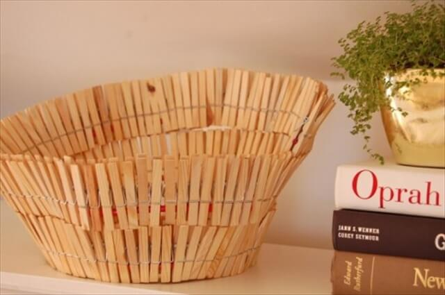 DIY clothespin bowl