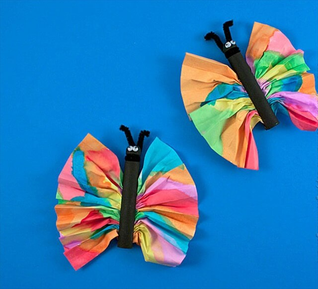 Butterfly Craft: Watercolors and Clothespins - Amanda Formaro, Crafts by Amanda