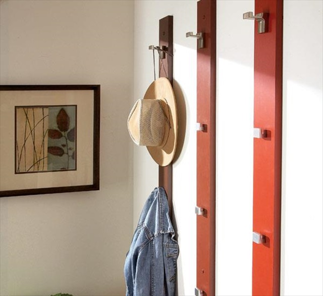 14 diy hat racks diy to make for Creative ideas for coat racks