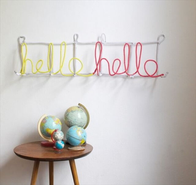 DIY Typographic Coat Rack