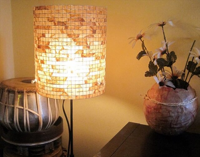 DIY Upcycled Coffee Filter Lampshade