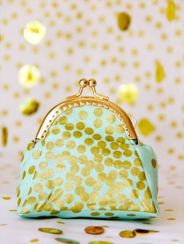 Gold Polka Dotted Coin Purse