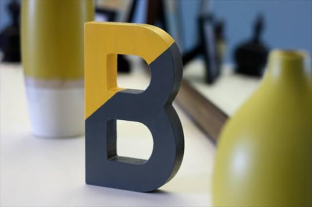 Color-Blocked Letter
