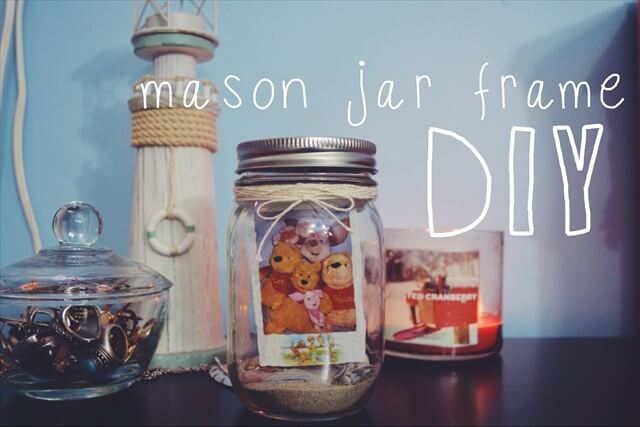 Mason Jar DIY: Sand Frame