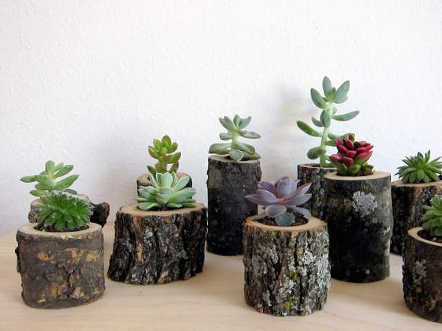 21 diy wood log project ideas diy to make for Homemade garden decor crafts