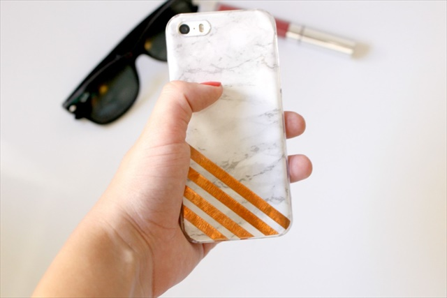 Marble and Copper Phone Case