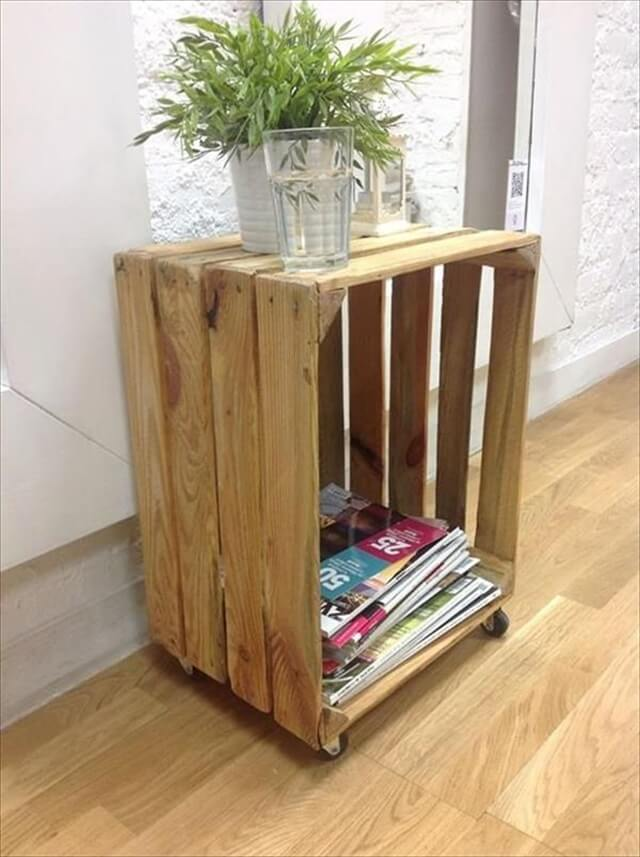26 Diy Pallet Side Table