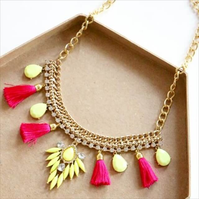Handmade Neon Pop Necklace: