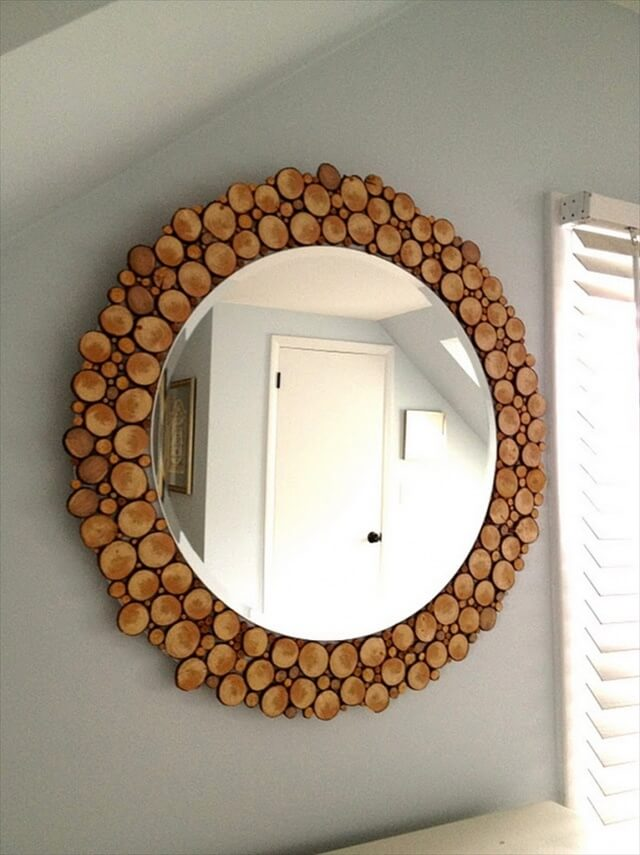 diy-wood-slice-mirror
