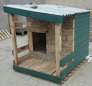 amazing pallet dog house