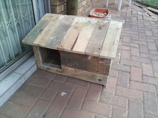 DIY Pallet dog house design