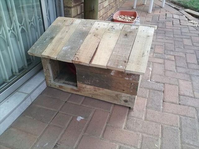 DIY Pallet dog house design