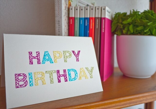Embroidered Birthday Card
