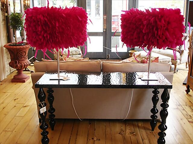 Feather table lamps