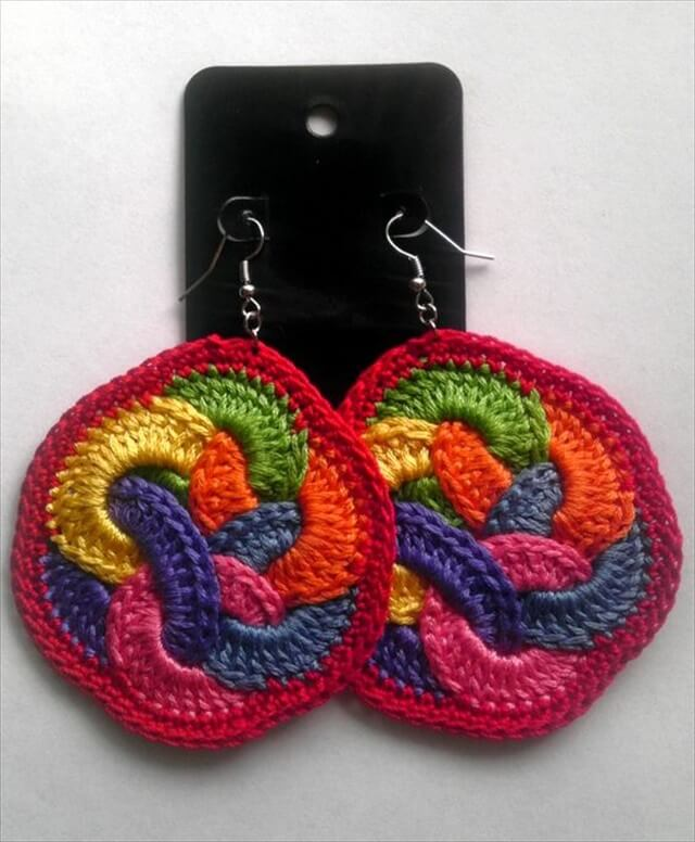Crochet Fruit Loop Earrings