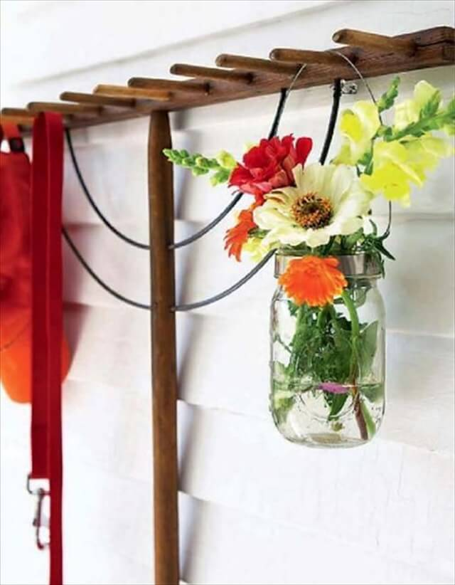 Recycling Glass Jars For Flower Arrangements And Wall Decorations