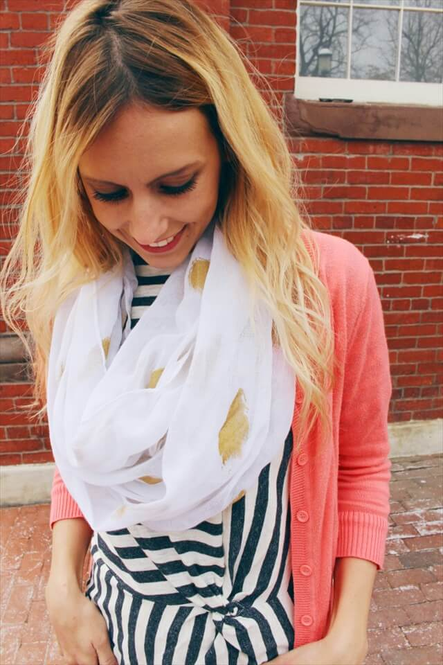 Gold Foil Infinity Scarf