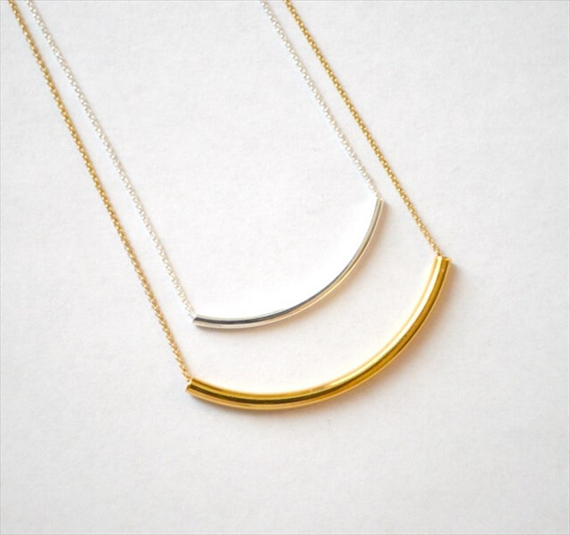 Silver and Gold Layering Necklaces